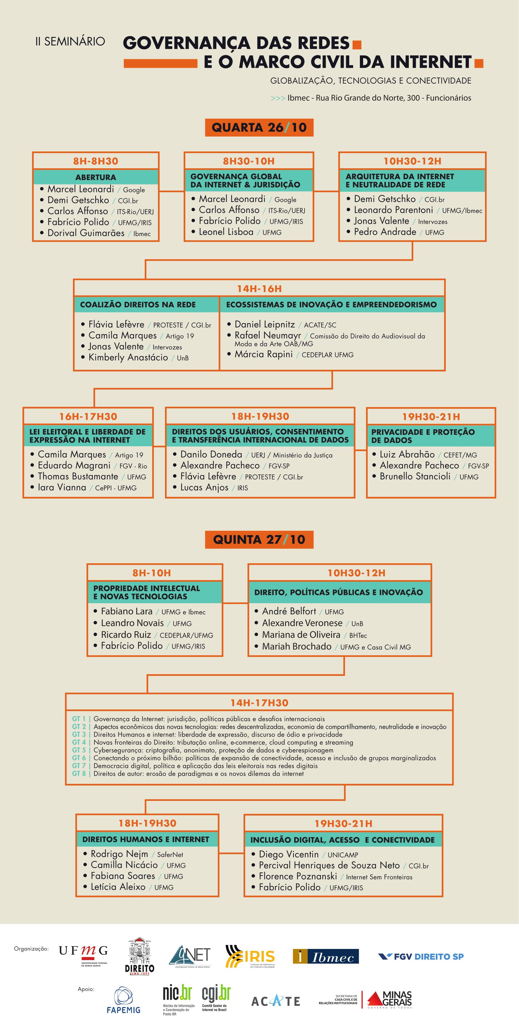df85c2b0ee065 Programação do II Seminário Governança das Redes e o Marco Civil da Internet